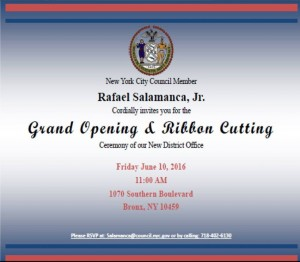 Salamanca Ribbon cutting
